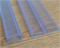 Plastic Profiles For Led Strip Housing Mounting Stock